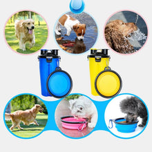 Load image into Gallery viewer, Dual Purpose Food  and Water Bottle for Dogs