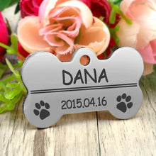 Load image into Gallery viewer, Personalized Graved Pendant Paw Glitter