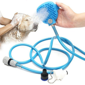 Pet Bathing Tool Comfortable Massager Shower Tool Cleaning Washing Bath Sprayers Palm-Sized Dog Scrubber Sprayer Hand Massage