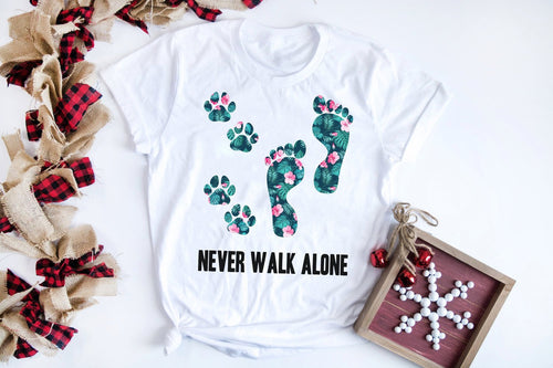 Dog Lover Tropical Flower T-shirt