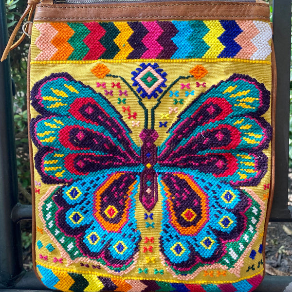 Butterfly Huipil Wristlet and Crossbody Bag