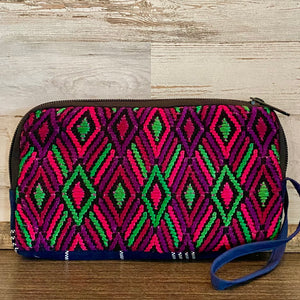Handmade Chichi Wristlet with Huipil and padded Corte