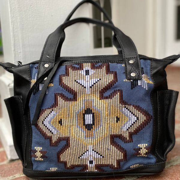Four Directions MINI Convertible Day Bag with Xela leather