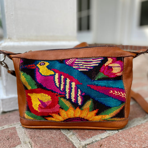 Guatemalan Huipil and Xela Crossbody Bag