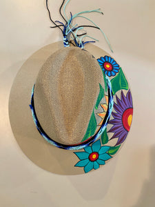 Mexican Hand-Painted Straw Hat