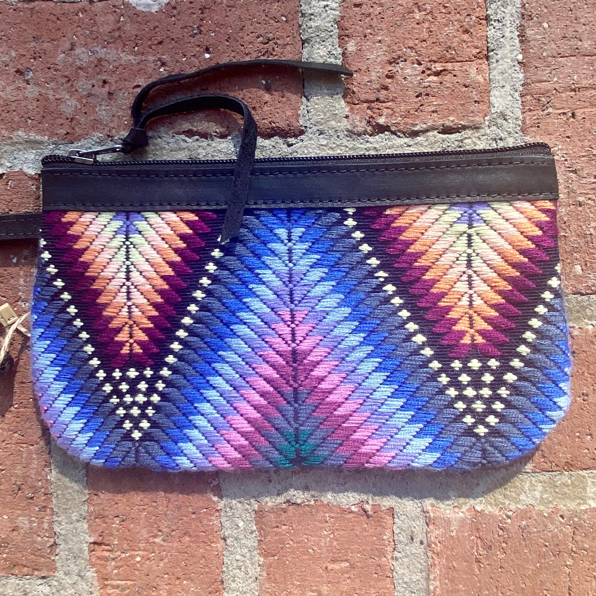"Newly Woven W Huipil Clutch 9"" x 5.5"""
