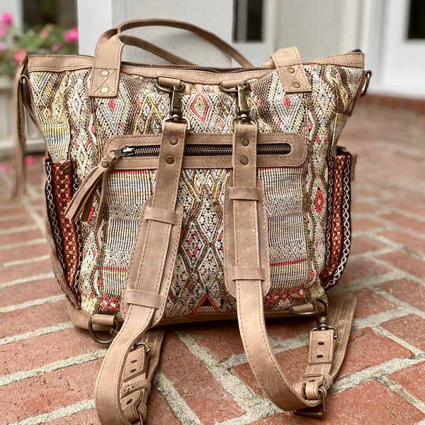 Medium Cinnamon Collection Mocha Convertible Day Bag