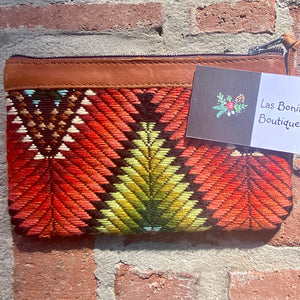 "Newly Woven W Huipil Clutch 8"" x 5"""