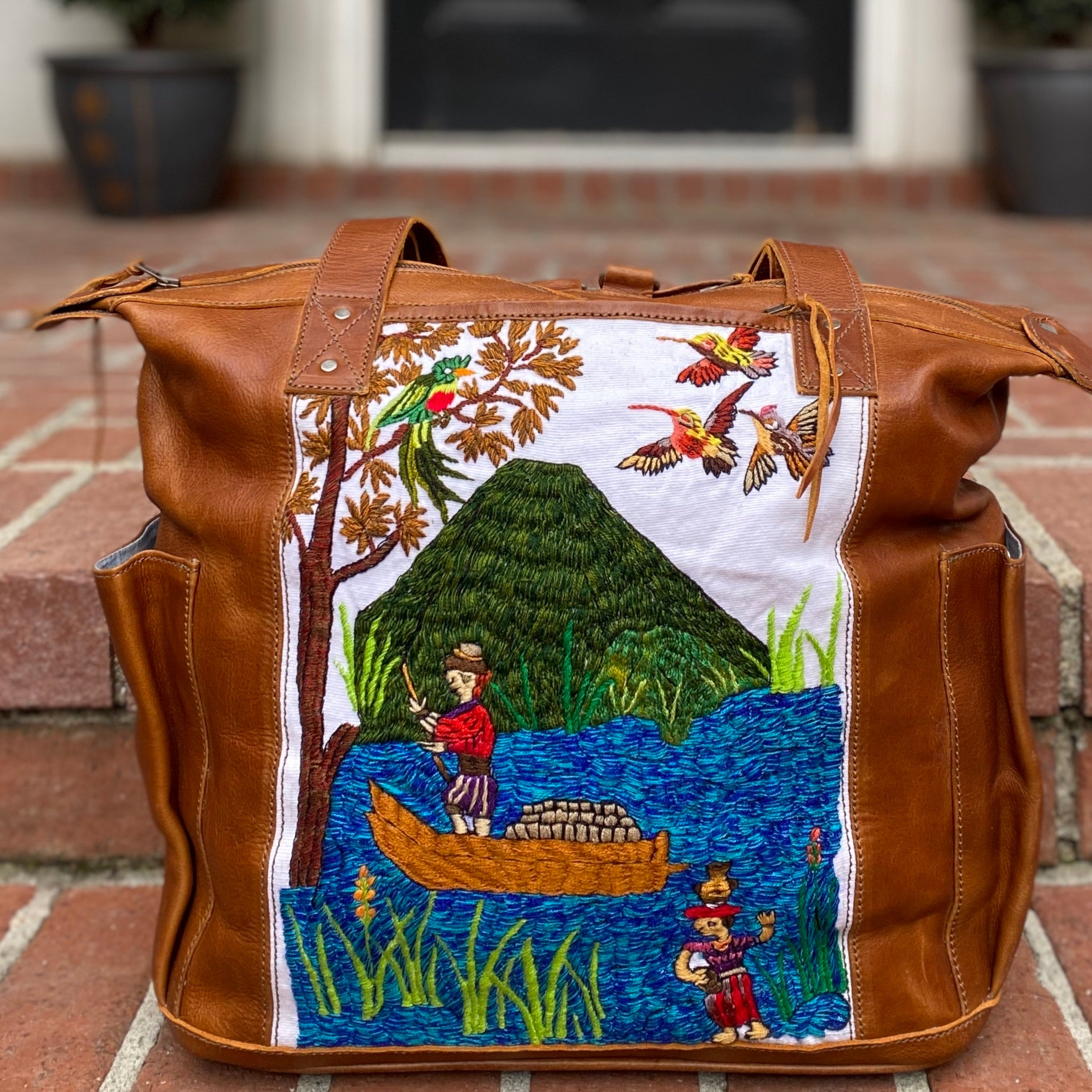 """Independence Collection"" Mayan Fisherman Convertible Day Bag"
