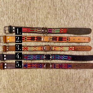Mexico Collection Large Embroidered Dog Collars