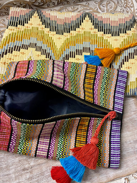 Small Textile Travel Bags with wipeable liner