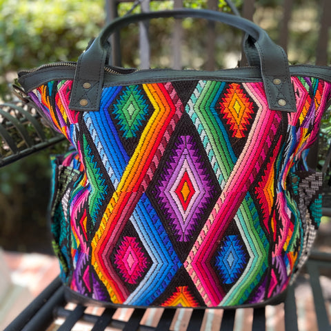 Medium Rainbow Chevron CDB