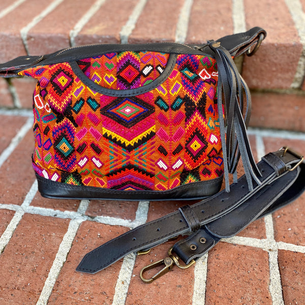 Zorro Crossbody Bag Wheat Huipil