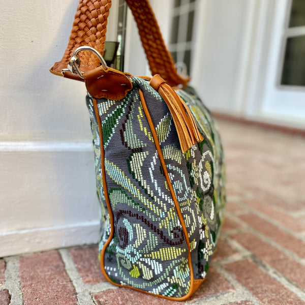 Boho-Style Huipil and Xela Leather Bag