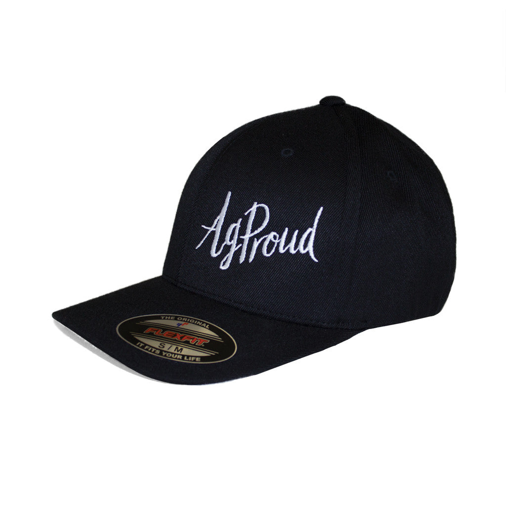 Ball cap: black – AgProud (adult FLEXFIT)
