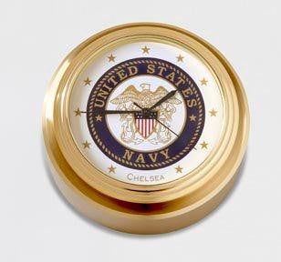 USN Waterfall Paperweight Clock
