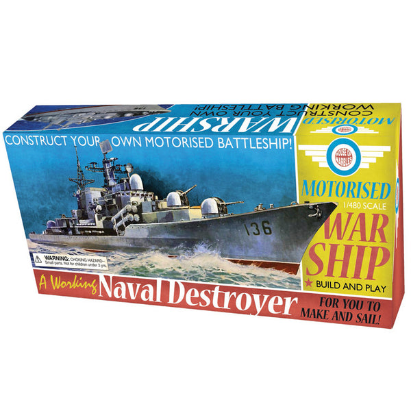 Naval Destroyer Motorised Warship Model Kit
