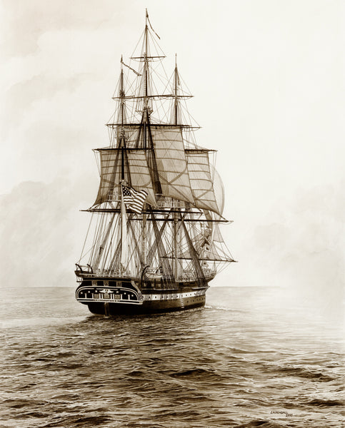"Old Ironsides, Sail 200 18"" x 24"" (Unframed, Unmatted)"