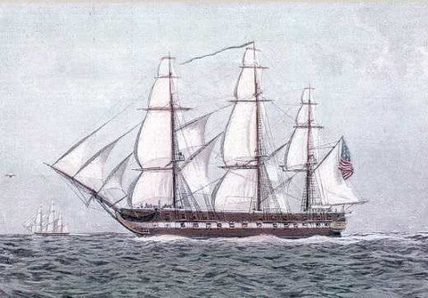 United States Frigate Constitution, Launched October 21, 1797 As She Was in Her Day of Glory