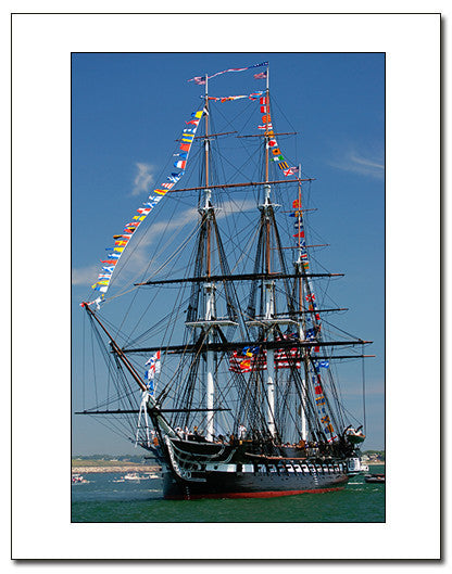 USS Constitution in Dress