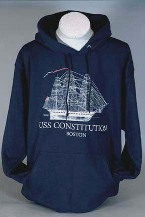 USS Constitution Sail Plan Hoodie