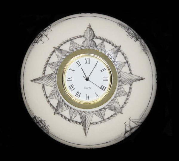 Engraved Clock Paperweight