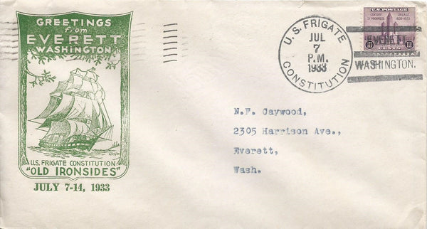Everett, Washington - 1930s Cancellation Cachet
