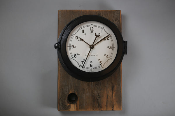 Patriot Deck Clock Mounted on USS Constitution Wood