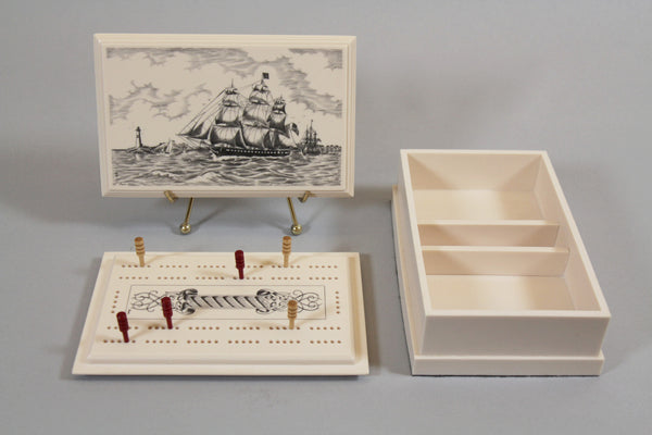 USS Constitution Cribbage Box