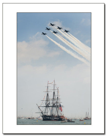 USS Constitution Underway Demonstration and Blue Angels, July 4th, 2012