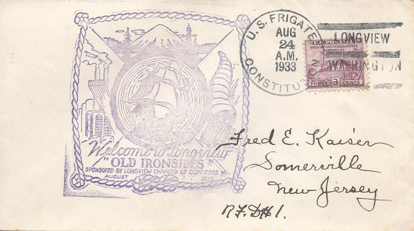 Longview Washington - 1930s Cancellation Cachet