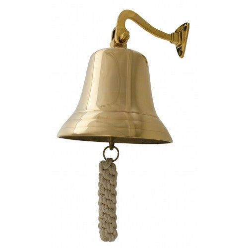 "7 1/2"" Polished Brass Bell"