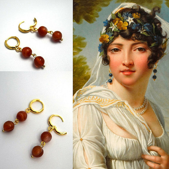 Regency Carnelian Earrings