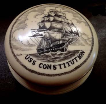 Handrubbed Scrimshaw Paperweight