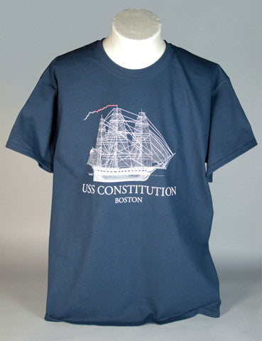 Navy Blue Sail Plan T-Shirt