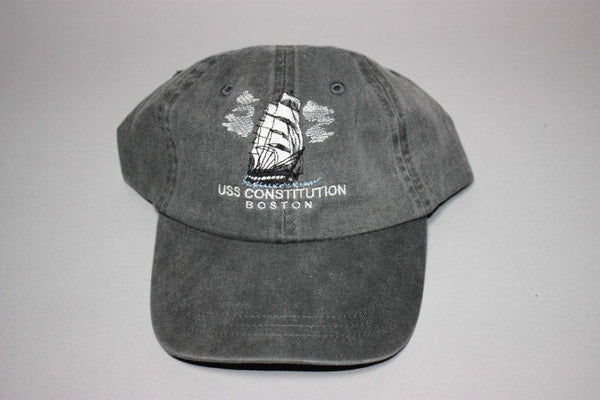 USS Constitution Embroidered Cap (Charcoal)