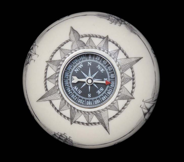 Engraved Compass Paperweight