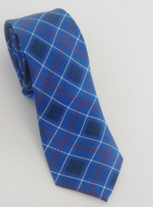 US Navy Silk Tartan Plaid Tie