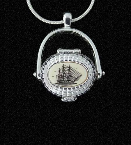 USS Constitution Nantucket Sterling Silver Plate Basket