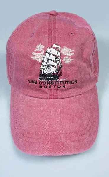 USS Constitution Embroidered Cap (Rose Red)