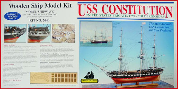 USS Constitution 1:76 Scale Model Ship