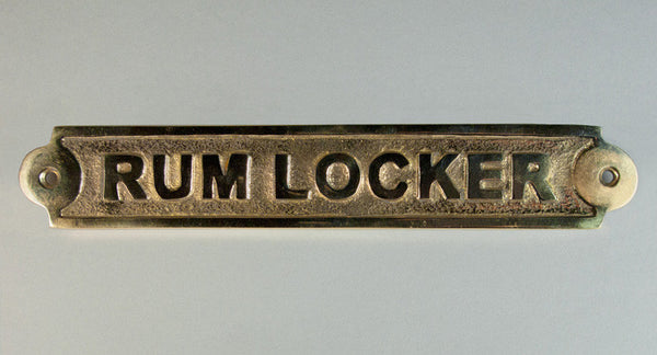 Brass Rum Locker Plaque