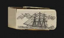 Scrimshaw Money Clip