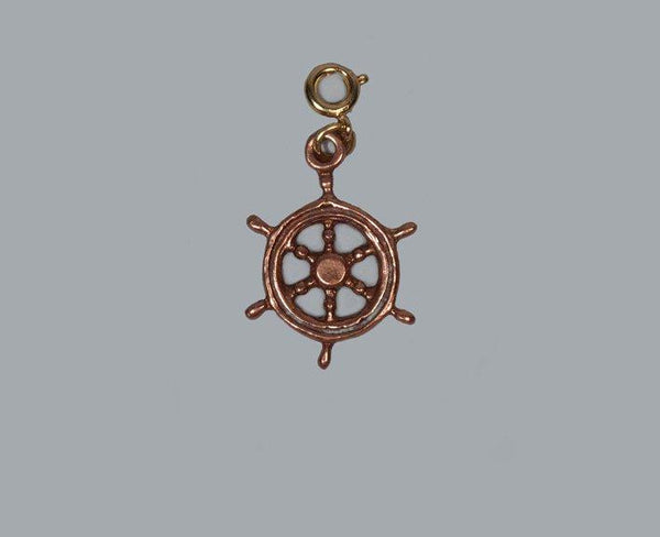 USSC Copper Charm: Ship's Wheel