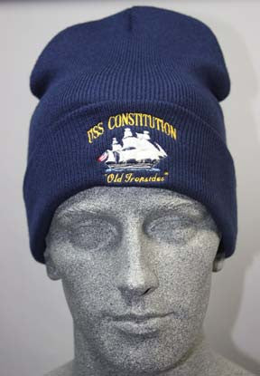 USS Constitution Embroidered Watch Cap