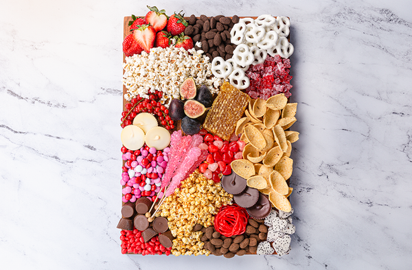 DIY Sweet and Salty Valentine's Snack Board
