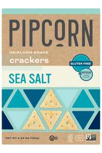 heirloom snack crackers sea salt pipcorn