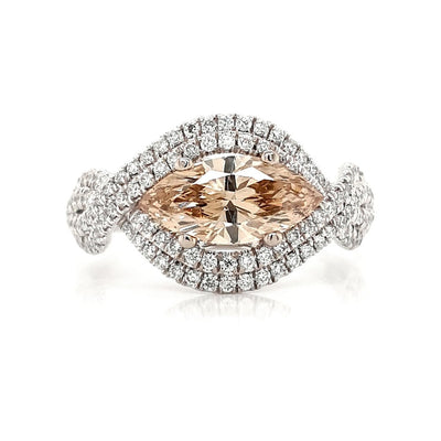 18ct Champagne Diamond Ring