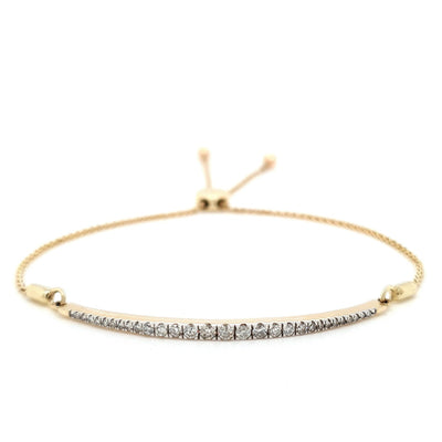 9k Diamond Adjustable Bracelet