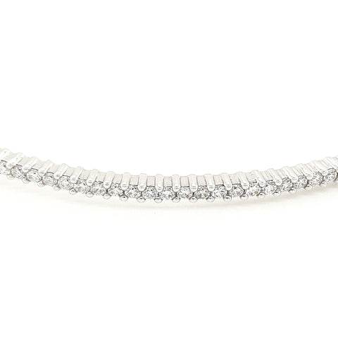 9k 0.60ct Diamond Hinge Bangle